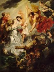 La Réconciliation de la reine et de son fils, après la mort du Connétable Concini, le 15 décembre 1621, dit autrefois : l'entrevue de Marie de Médicis et de son fils (Rubens Pierre Paul) - Muzeo.com