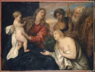 La Vierge, l'Enfant Jésus et les Trois repentants (David, la Madeleine et le Fils Prodigue) (Van Dyck Antoon) - Muzeo.com