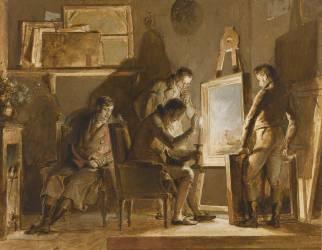 La Visite dans l'atelier (Fragonard Alexandre-Evariste) - Muzeo.com