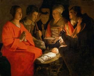 L'Adoration des bergers (La Tour Georges de) - Muzeo.com
