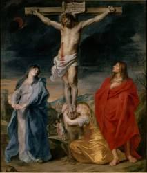 Le Christ en croix, la Vierge, Saint Jean et Sainte Madeleine (Van Dyck Antoon) - Muzeo.com