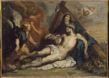 Le Christ pleuré par la Vierge (Van Dyck Antoon) - Muzeo.com