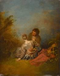 Le Faux pas (Watteau Antoine) - Muzeo.com