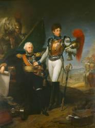 Le général de Lariboisière faisant ses adieux à son fils, lieutenant au 1er régiments de carabiniers, au début de la bataille de la Moskowa, le 7 septembre 1812 (Gros Antoine-Jean, Baron) - Muzeo.com