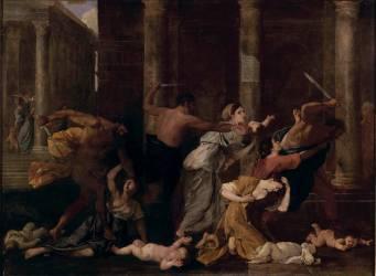 Le massacre des Innocents (Poussin Nicolas) - Muzeo.com