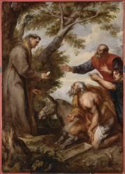 Le miracle de la mule (ou Miracle de saint Antoine de Padoue à Toulouse) (Van Dyck Antoon) - Muzeo.com