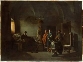 Le Peintre Sodoma porté à l'hôpital (Granet François-Marius) - Muzeo.com
