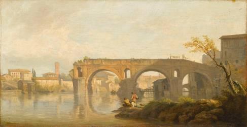 Le Ponte Rotto à Rome (Vernet Joseph) - Muzeo.com