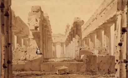 Le Temple de Neptune à Paestum (Viollet-Le-Duc Eugène) - Muzeo.com