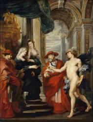 Le Traité d'Angoulême le 30 avril 1619, dit autrefois : la réconciliation de Marie de Médicis avec son fils (Rubens Pierre Paul) - Muzeo.com