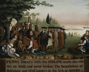 Penn's Treaty with the Indians (Edward Hicks) - Muzeo.com