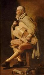 Le Vielleur, dit Le Vielleur à la sacoche ou Le Vielleur Waidmann (La Tour Georges de) - Muzeo.com