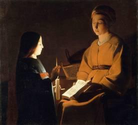 L'éducation de la Vierge (anonyme) - Muzeo.com