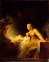 L'éducation de la Vierge (Fragonard Jean-Honoré) - Muzeo.com