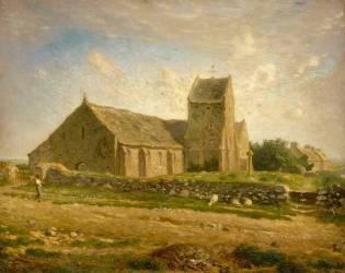 L'église de Gréville (Millet Jean-François) - Muzeo.com