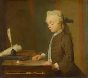 L'Enfant au Toton. Auguste Gabriel Godefroy (1728-1813) (Chardin Jean Siméon) - Muzeo.com