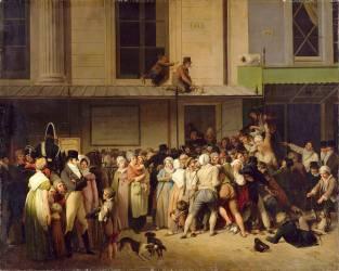 L'entrée du théâtre de l'ambigu-comique à une représentation gratis (Boilly Louis Léopold) - Muzeo.com