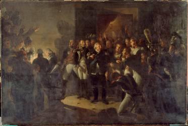Les Adieux de Louis XVIII quittant le palais des Tuileries dans la nuit du 20 mars 1815 (Gros Antoine-Jean, Baron) - Muzeo.com