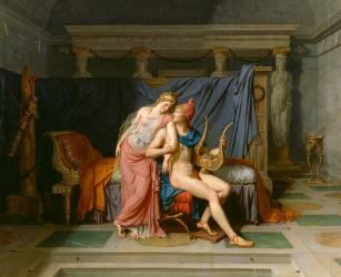 Les Amours de Pâris et Hélène (David Jacques Louis) - Muzeo.com