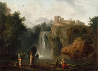 Les cascades de Tivoli (Vernet Joseph) - Muzeo.com