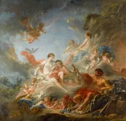 Les Forges de Vulcain ou Vulcain présentant à Vénus les armes pour Enée (Boucher François) - Muzeo.com