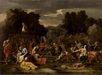 Les Israélites recueillant la manne dans le désert (Poussin Nicolas) - Muzeo.com