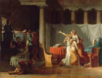 Les Licteurs rapportent à Brutus les corps de ses fils (David Jacques Louis) - Muzeo.com