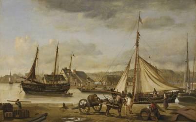Les quais marchands de Rouen (Corot Jean-Baptiste Camille) - Muzeo.com