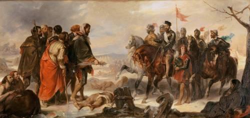 Levée du siège de Metz, janvier 1553, François de Lorraine, duc de Guise mène l'opération (Devéria Eugène) - Muzeo.com