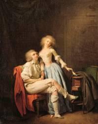 L'oiseau privé dit aussi le couple et l'oiseau envolé (Boilly Louis Léopold) - Muzeo.com