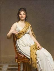 Madame Raymond de Verninac, née Henriette Delacroix (1780-1827), soeur d'Eugène Delacroix (David Jacques Louis) - Muzeo.com