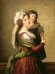 Madame Rousseau et sa fille (Vigée-Le Brun Elisabeth...) - Muzeo.com