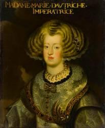 Marie-Anne d'Autriche (1606-1666), infante d'Espagne, impératrice d'Allemagne (anonyme) - Muzeo.com