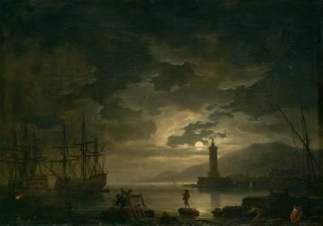 Marine, clair de lune (Vernet Joseph) - Muzeo.com