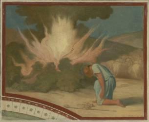 Moïse devant le Buisson ardent (Flandrin Hippolyte) - Muzeo.com