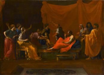 Moïse foulant aux pieds la couronne de Pharaon (Poussin Nicolas) - Muzeo.com