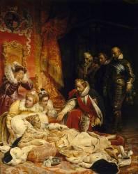 Mort d'Elisabeth, reine d'Angleterre, en 1603 (Delaroche Paul) - Muzeo.com