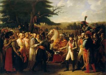 Napoléon Ier recevant les clefs de Vienne à Schönbrunn, le 13 novembre 1805 (Girodet Anne-Louis) - Muzeo.com