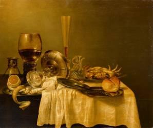 Nature morte au crabe (anonyme) - Muzeo.com