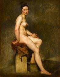 Nu assis dit Mademoiselle Rose (Delacroix Eugène) - Muzeo.com