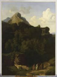 Paysage : les Adieux d'un proscrit à sa famille ou Montagne de la Sabine (Flandrin Hippolyte) - Muzeo.com