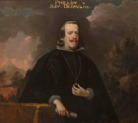 Philippe IV, roi d'Espagne (1605-1665) portant le collier de la Toison d'Or (anonyme) - Muzeo.com