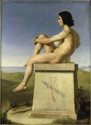 Polytés fils de Priam observant les mouvements des Grecs vers Troie (Flandrin Hippolyte) - Muzeo.com