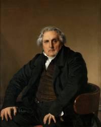 Portrait de Bertin, Louis-François, dit Bertin l'ainé (1766-1841), fondateur du journal des Débats (Ingres Jean-Auguste-Dominique) - Muzeo.com