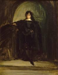 Portrait de Delacroix en Hamlet (Delacroix Eugène) - Muzeo.com