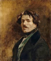 Portrait de l'artiste (Eugène Delacroix) - Muzeo.com