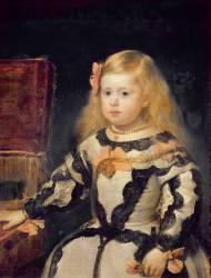 Portrait de l'Infante Marie-Marguerite, fille de Philippe IV, roi d'Espagne (1661-1673) (Velazquez Diego) - Muzeo.com