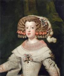 Portrait de l'Infante Marie-Thérèse, future reine de France (1638-1683) (Velazquez Diego) - Muzeo.com