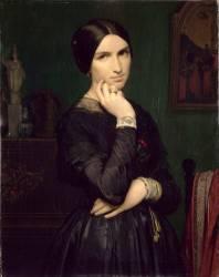 Portrait de madame Flandrin, épouse de l'artiste (Flandrin Hippolyte) - Muzeo.com