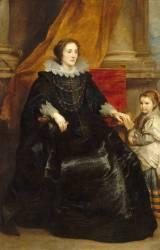 Portrait d'une dame de qualité et de sa fille (Antoon van Dyck) - Muzeo.com